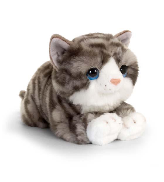 32cm Signature Grey Cuddle Kitten